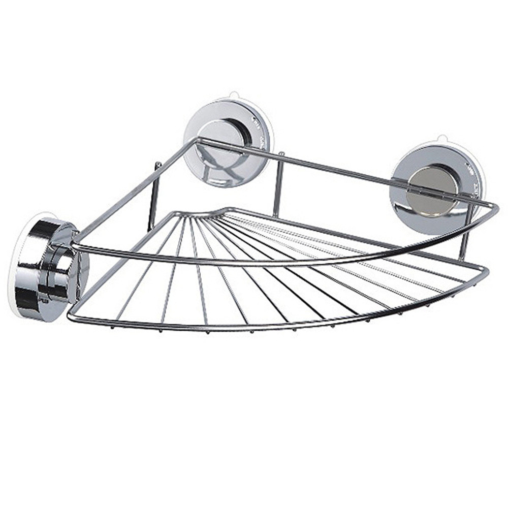Corner Shelf Shower Basket Stainless Steel Bathroom Shelf Shower Shampoo  Holder F121
