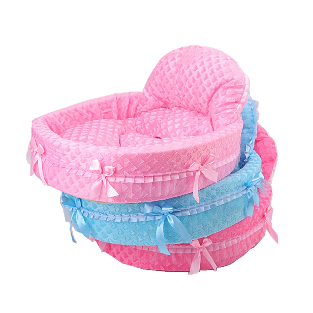 Hot Selling New Dog Bed Lace Princess Heart Shape Puppy Houses for Teddy Bichon Poodle Chihuahua Sweet Pet Kennels Wholesaling