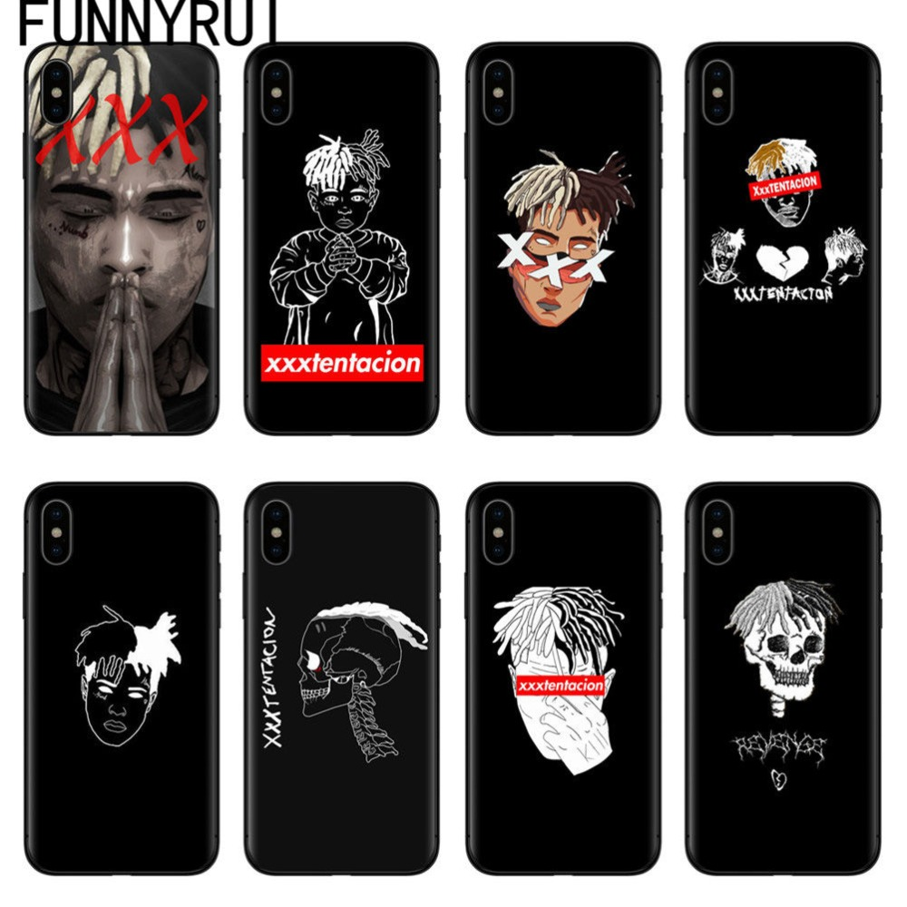 FUNNYRUI Xxxtentacion Cases For iPhone X Soft Silicone Phone Cover For Coque iPhone 5 5S SE
