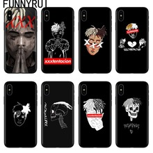 FUNNYRUI Xxxtentacion Cases For iPhone X Soft Silicone Phone Cover For Coque iPhone 5 5S SE 6 6SPlus 7 7 Plus 8 8Plus
