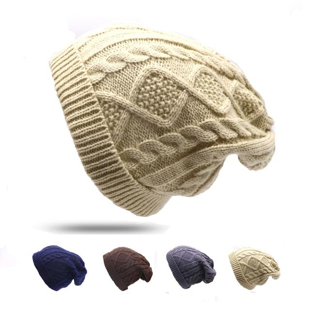 4f6e610f423 1Pcs Fashion Women New Design Caps Beanie Twist Pattern Solid Color Women  Winter Hat Knitted Sweater Hats For Women Bonnet Femme