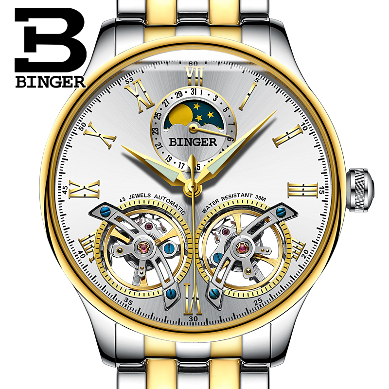 2017 Switzerland Mechanical Men Watches Binger Role Luxury Brand Skeleton Wrist Sapphire Waterproof Watch Men Clock Male Watch switzerland mechanical men watches binger luxury brand skeleton wrist waterproof watch men sapphire male reloj hombre b1175g 3