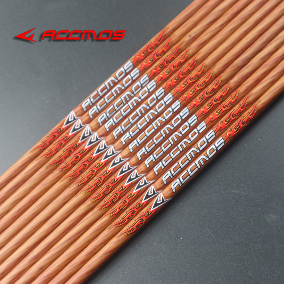 2019 Hot Wooden Painted Carbon Arrow Shaft Spine 400 500 600  ID 6.2mm 28