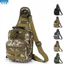 ONWARDS Military MOLLE System Single Shoulder Sling Chest Bag,Ergonomics Explorer Sport Camouflage ACU Bag SWAT Police Military
