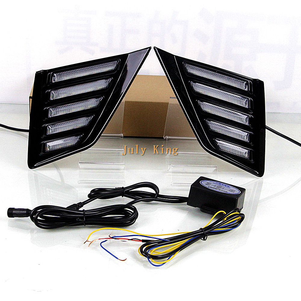 July King LED Daytime Running Lights case for Buick Regal GS Opel Insignia GSI 2018+, 6000K DRL + Yellow Turn Signals