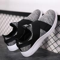 Мужские туфли на плоской подошве Для мужчин обувь с высоким берцем обувь без застежки мужская повседневная обувь Легкий дышащий человек ле