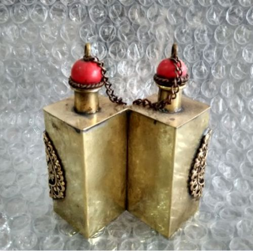 3 15 Inch Brass Dragon Twins Snuff Bottles In Ancient China