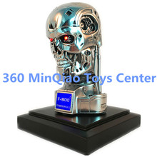 Statue Terminator 1:2 T2 Bust Schwarzenegger Skull T800 Head Portrait Silver Resin Collectible Model Toy RETAIL BOX WU869
