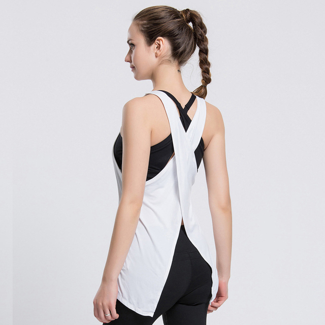 Women Quick Dry Fitness Tops Summer Sexy Tank For Exercise Women's Clothing T-Shirt Female Workout Vest Tee Singlets Clothes