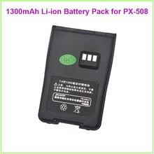 Hot Sale DC7.4V 1300mAh Li-ion Battery Pack for PUXING PX-508 IP67 Waterproof walkie talkie radio