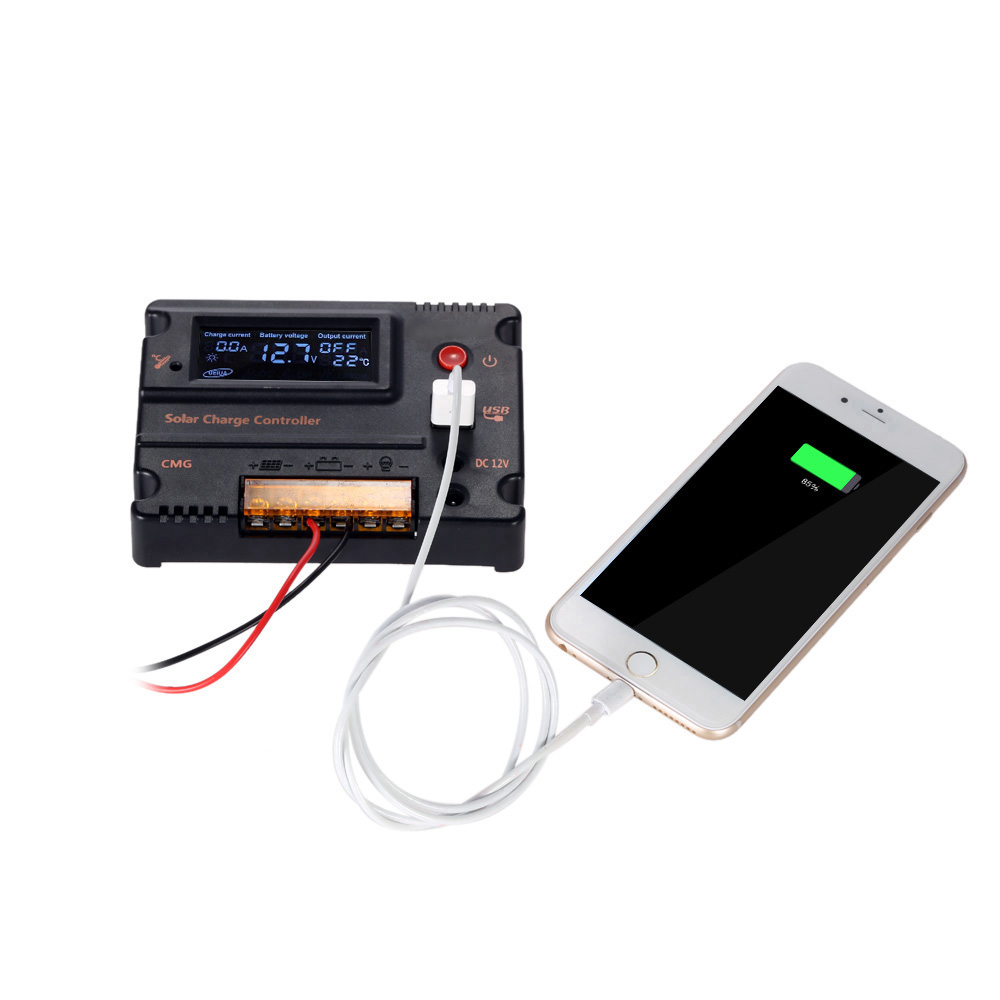 12V/24V Automatic Solar Charge Controller with PWM Charging Mode and Over-Charging Protection 1