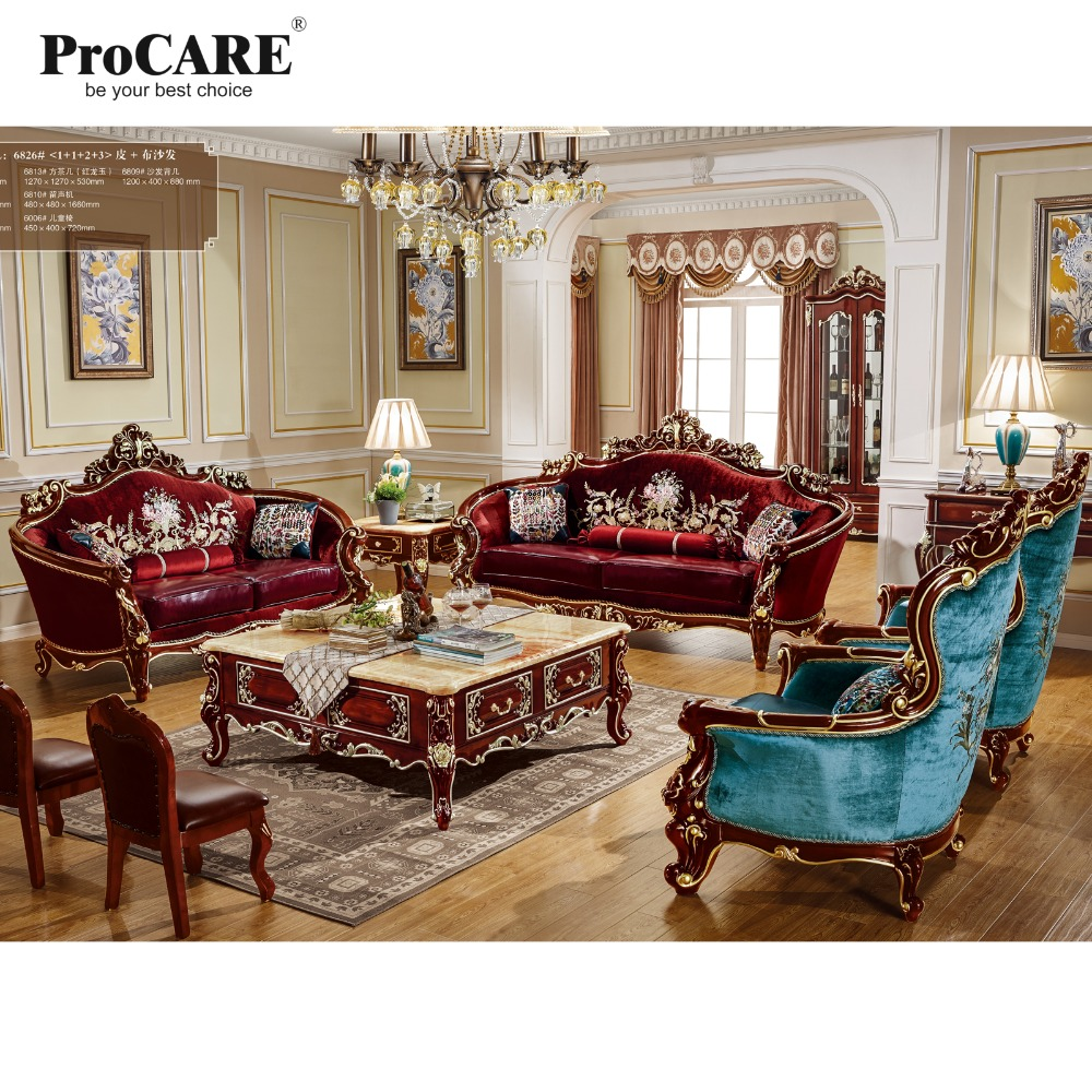 Online Shop High Quality Luxury European Style Fabric With Leather  ~ Best Quality Leather Sofa