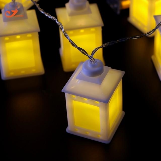 Yellow Lantern Fairy Light String Lights Holiday 10 LED Christmas Lighting  Battery Operated Patio Party Ramadan