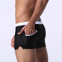 Мужские карманные купальники, мужские боксеры, купальники, боксеры, на молнии, быстросохнущие, для взрослых, дышащие, Пляжные штаны