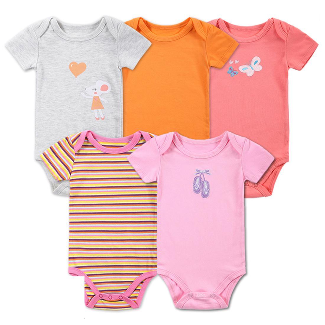 5pcs Kids Summer Clothes Designer Rompers For Kids First Impressions
