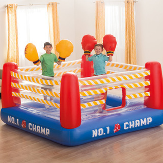 Intex 48250 anneau de boxe en plastique gonflable jouets pour enfants 226 cm X 226 cm X 110 cm Trampoline aire de jeux gonflable piscine à balles Marine
