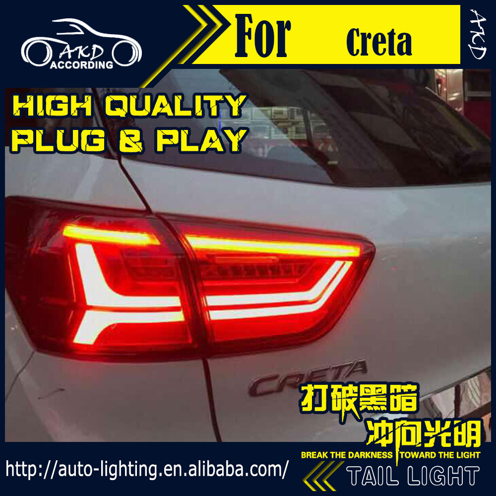 AKD Car Styling Tail Lamp for Hyundai Creta Tail Lights IX25 LED Tail Light LED Flash