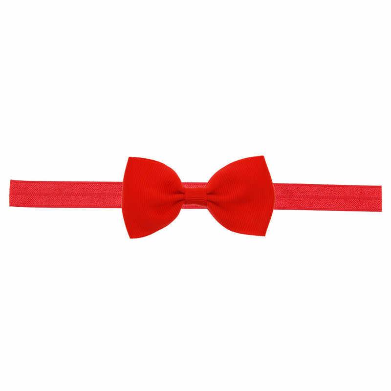 העסקה הטובה ביותר תינוק סרט ילדי בנות מיני Bowknot גומייה לשיער סרט אלסטי שיער אביזרי עבור 0-3 שנים # Z25
