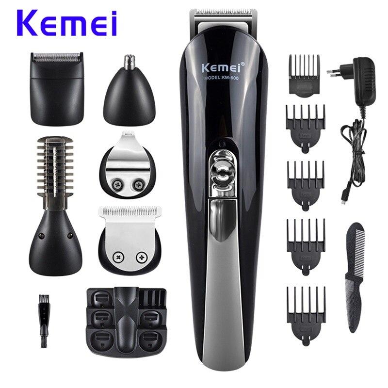 Kemei KM-600 rasoir électrique 11 en 1 multifonction cheveux tondeuse ensemble professionnel cheveux rasoir tondeuse à barbe Machine de coupe de cheveux