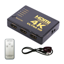 HDMI Switcher 5 Port 4K HDMI Switch Selector Splitter 5 in 1 out 4K*2K With Hub IR Remote For HDTV PS3 xiaomi BOX projector цена и фото