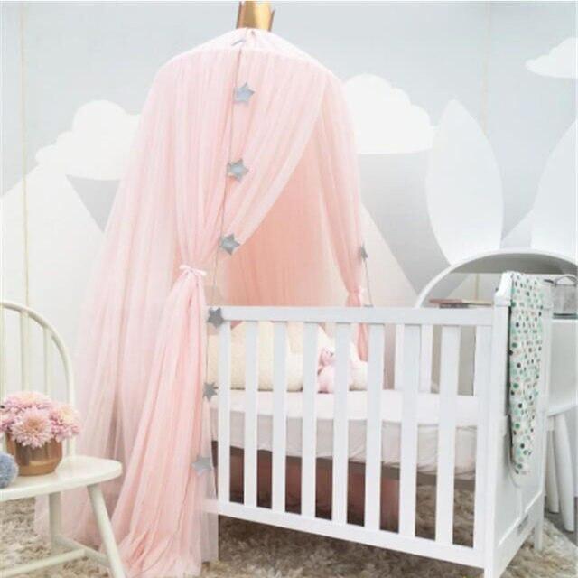 White Pink Gray Khaqi Princess Kids Crib Canopy Nursery Canopy Bed Canopies Play Room Nursery Playroom Decor Hanging Play Tent & Online Shop White Pink Gray Khaqi Princess Kids Crib Canopy ...