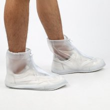 Fashion Unisex Waterproof Flattie Rain Shoe Covers With Durable PVC Material Zipper Design Anti-slip Overshoes For Travel