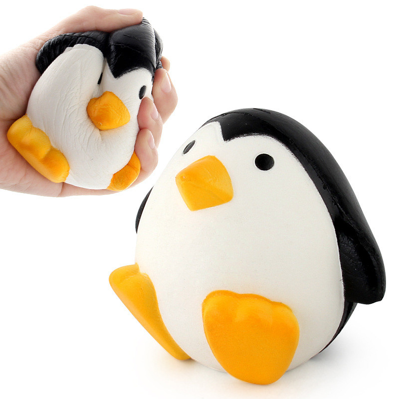 Anti Stress Ball SqueezeToy Jumbo Squishy Toys Slow Rising Animal Penguin Stress Relief Toys For Kid Stretchy Antistress Toy