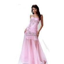 Sexy Formales Kleid Lange Mermaid Tüll Kleid Schatz Perlen Durchsichtig Bottom Abendkleid Benutzerdefinierte Größe