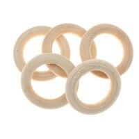 20 шт 3,5 см дерево материал петли натуральное дерево петля кольцо дерево материал для DIY ювелирных изделий