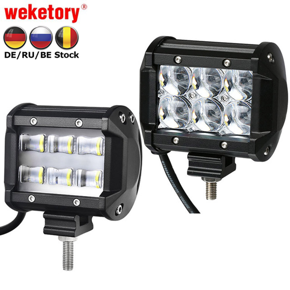 Weketory 9D 5D 4 zoll 30 watt LED Arbeit Licht Bar für Traktor Boot OffRoad 4WD 4x4 Lkw SUV ATV