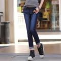 New High Quality Women Female Famous Brand Cotton ripped Jeans Pants Skinny Slim Stretch Pencil Denim woman W0917-70E