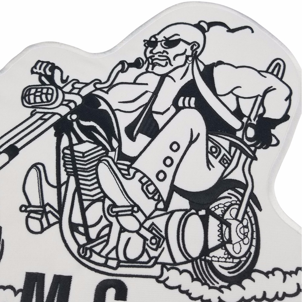 Image 4 - Mongols MC Patches Biker Back Nomad Rocker Patch Free Rider Motorcycle Embroidered Jacket Vest Badge Back Size Iron On-in Patches from Home & Garden