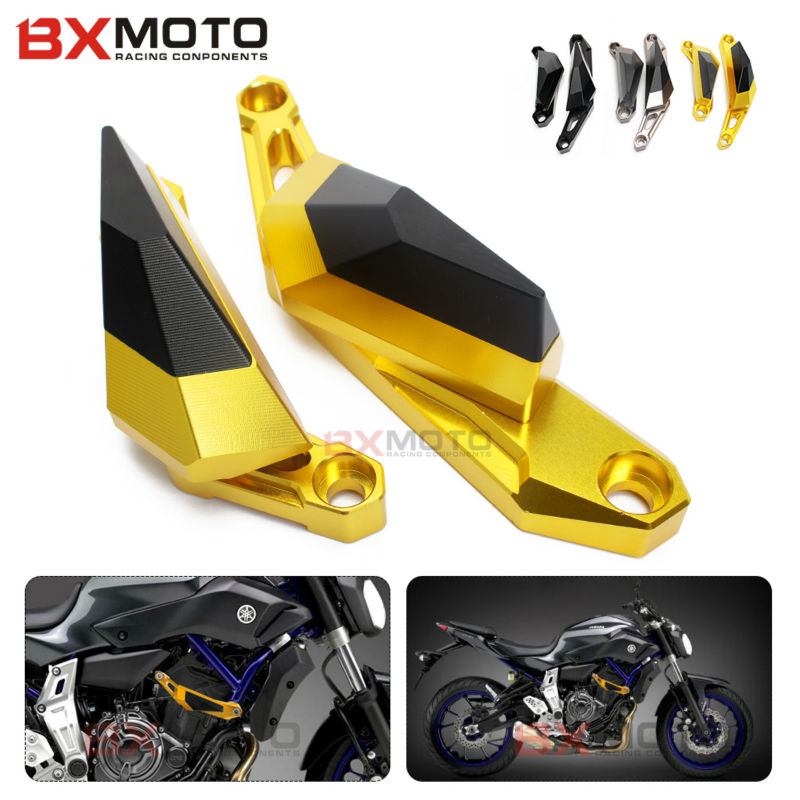 CNC Motorcycle accessories parts Fittings Frame Slider Anti Crash cover For Yamaha MT07 MT-07 2013 2014 2015 Falling Protectors aftermarket free shipping motorcycle parts no cut frame slider crash protector for 2004 2011 yamaha fz6 fazer fz6s carbon fiber