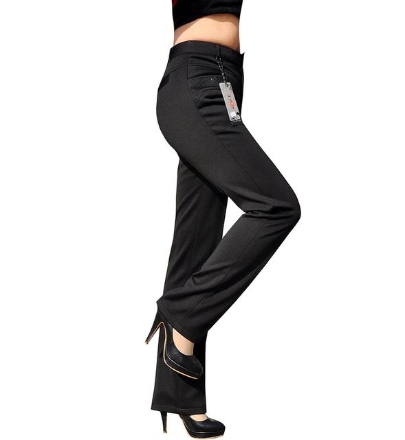 Mulher Plus Size Veludo Térmica Calça Casual Calças Femininas Quinquagenário Grosso Botão Voar Calças Alta Elástica Plissada