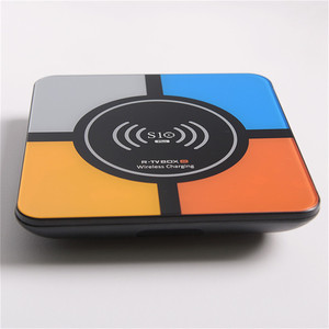 Image 3 - RK3328 R TV BOX S10 Android 8.1 HD Smart Network Player TV BOX Wireless Charging Smart TV Android Box