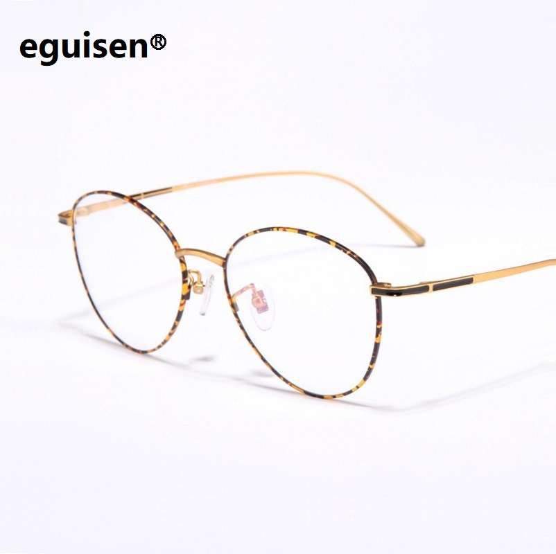 Width 140 Pure B Titanium Ultra Light Women Men Retro Round Full Rim Thin Temple Eyeglasses Frame Myopia Glasses Eyewear frame in Men 39 s Eyewear Frames from Apparel Accessories