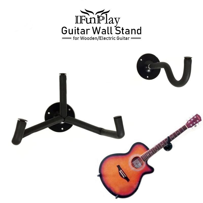 guitar stand hanger hook oak horizontal guitar wall mount stand holder rack bracket with screw. Black Bedroom Furniture Sets. Home Design Ideas