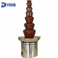 DEVISIB 7 Tier Commercial Chocolate Fountain Fondue with Stainless Steel 304 Material Christmas Wedding Event Party Supplies