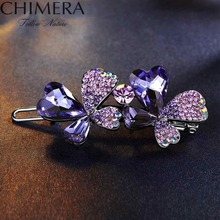 CHIMERA Bling Imitation Crystal Rhinestones Hair Clip Bobby Pins Women Jewelry Accessories High Quality Flower Hairpins