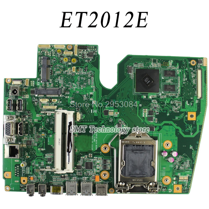 Original laptop motherboard for ASUS ET2012E Rev:2.00G Mainboard Board fully Tested Free Shipping free shipping 1015bx mainboard rev2 1g for asus eee pc 1015bx laptop motherboard 100% tested working fully tested