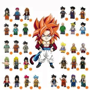 Single Dragon Ball Super Saiyans  Vegeta Goku Gogeta Cyborg Figures Building Blocks Toys for Children Gift Kids toys  JM-31