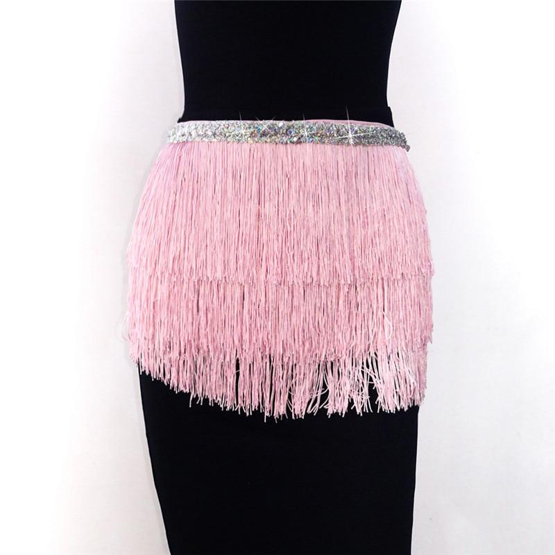 Image 5 - FestivalQueen Belly Dance Hip Scarf Skirt for Women Tassel Fringes Costume Belt Tribal Fringe Wrap Belt Mini Skirts-in Skirts from Women's Clothing