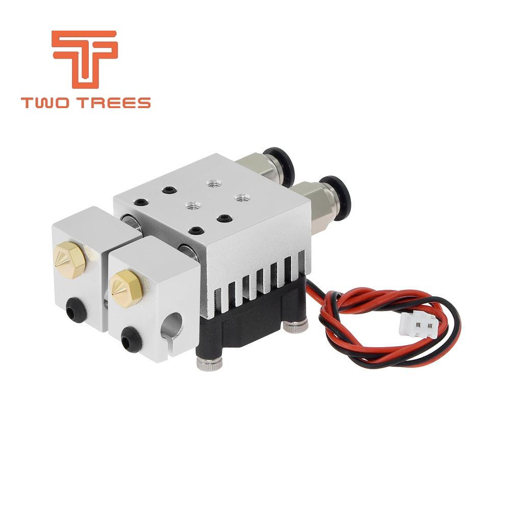 3D Chimera Hotend Kit  2 IN 2 OUT extruder Multi-extrusion All metal V6 Dual Single extruder 0.4mm1.75mm 3D printer parts (2)