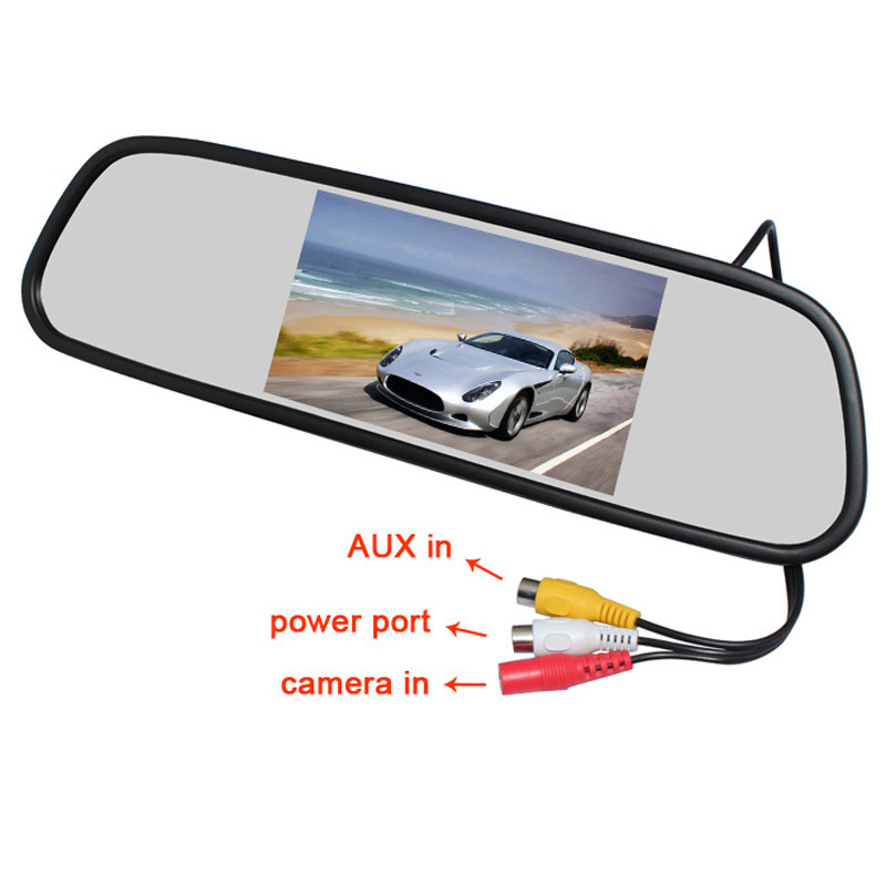 Hot Sell 5 Inch 800*480 Car Hd Display Rear View Mirror Monitor 2ch Video Input Parking Assistance For Rear View Camera Back To Search Resultshome