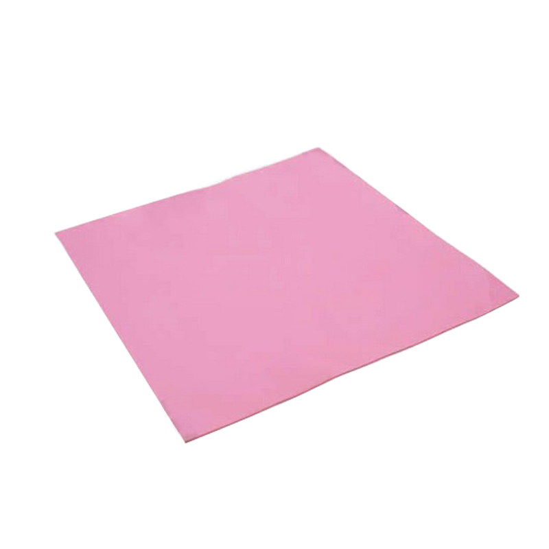 2 Pcs/lot Hot Sell 100 X 100 X 2mm Red Color Conductive Heatsink Thermal Silicone Pad For Laptop GPU CPU Cooling