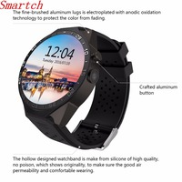 Smartch best Sale KW88 Smart watch Android 5.1 MTK6580 CPU 1.39 inch 3G Wifi Smartwatch for Samsung Huawei Phone Watch PK GT88 K