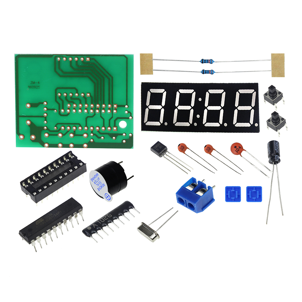 Three Dimensional 3d Christmas Tree Led Diy Kit Red Green Yellow Clock Electronic Circuit Board Time High Quality C51 4 Bits Production Suite Kits Priceusd 176