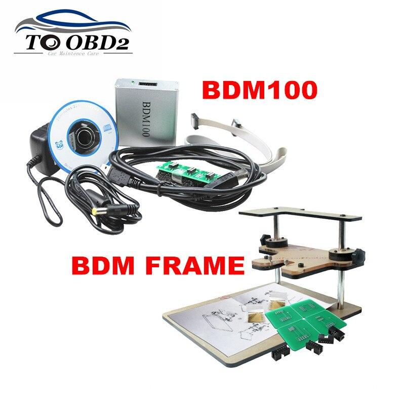 Alta qualidade quadro bdm adaptadores completos funciona para bdm programador adicionar bdm100 v1255 obd2 ecu programador bdm 100 ecu leitor pisca