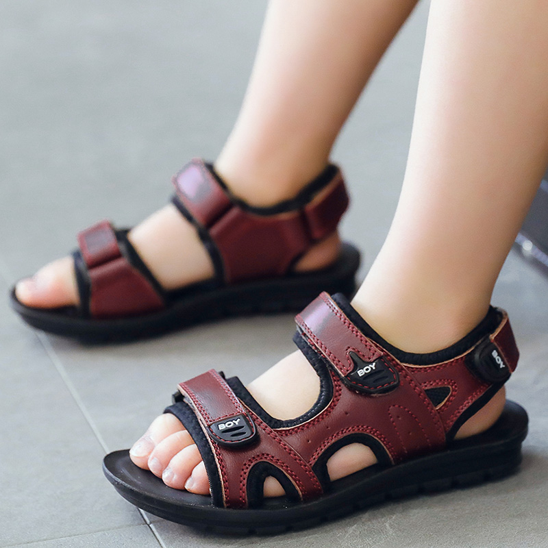 2018 Summer New Kids Sandals Childrens Shoes Big Boys Comfort Skid Sandal For Kids Casual Beach Sandals Student Shoes MX80