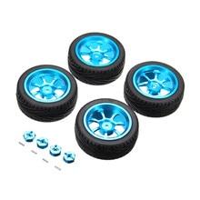 4 Stuks Hoge Kwaliteit Rc Car Wheel Rim & Banden Met 12 Mm Adapter Voor 1/18 Wltoys A959 B A949 A959 a969 A979 K929